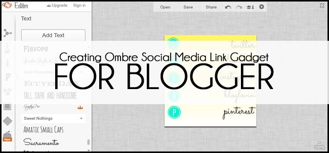 Venus Trapped: Saturday Sessions: Creating Your Own Ombre Social Media Gadget Links
