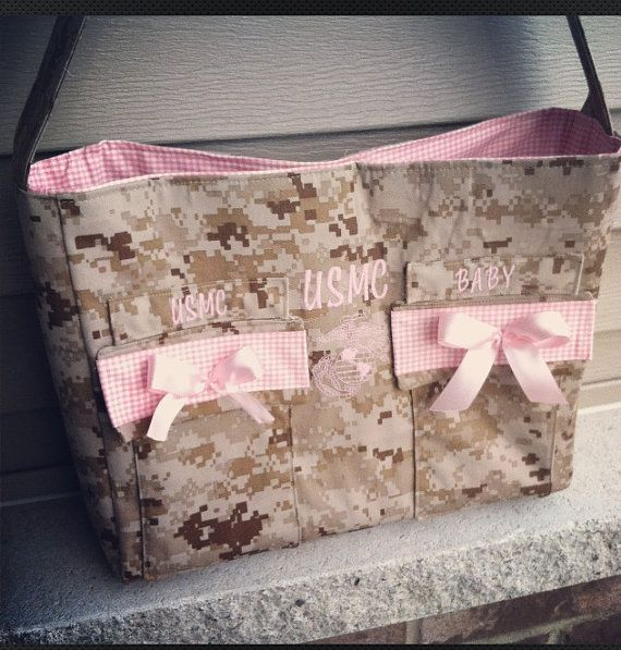 MADE TO ORDER Military Camo Diaper bag by KyliezKreationz on Etsy, $65.00