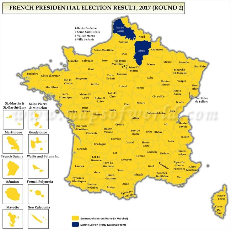 French Presidential Election Results Map Election Maps - Map of us presidential election results