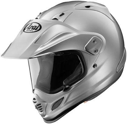 Arai XD-4 Solid Aluminum Silver Motorcycle Adventure Dual Sport Helmet
