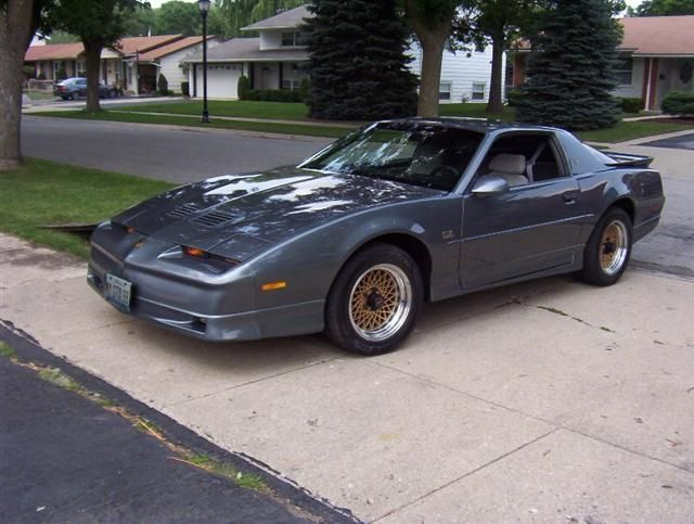 Pontiac Firebird Trans Am GTA. this gunmetal was THE color!