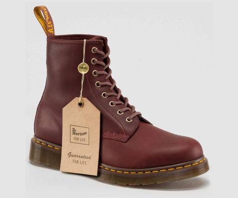 Dr Martens For Life boots with lifetime guarantee.