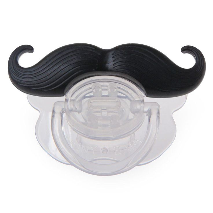 The Mustache Pacifier will bring the handlebar mustache back in style! Made from baby-grade silicone and nontoxic plastic, this funny pacifier keeps infants quiet, provides laughter for the lucky pare