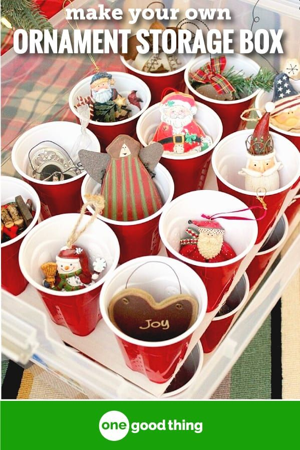 Make Your Own Christmas Ornaments Storage Box · Jillee Decoration