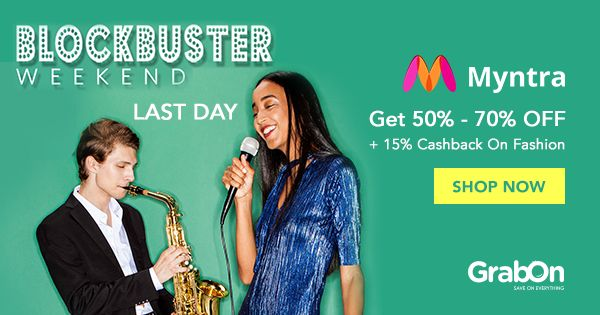 LAST Day to Visit the #myntra Blockbuster Weekend #Sale for #Blockbuster #Discounts!   #fashion #weekend #offers