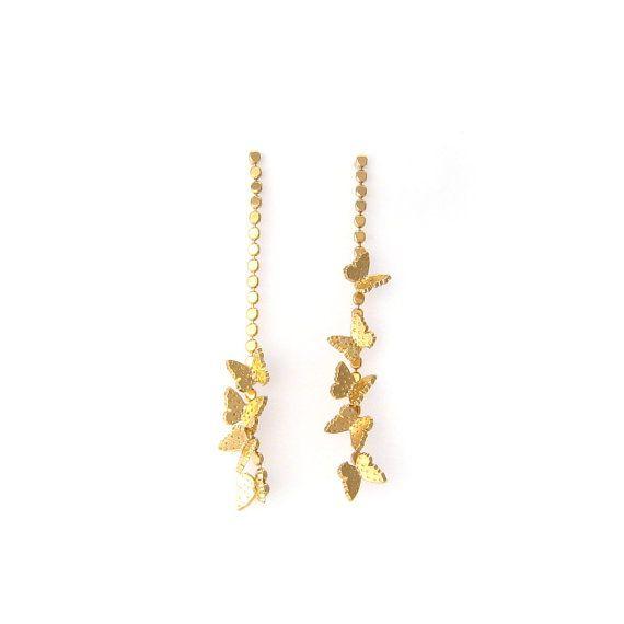 Boucles d'oreilles Papillons en métal doré en vente sur mon e-shop Etsy - 20€ ©VisionOfJewels by ThierryRégnier