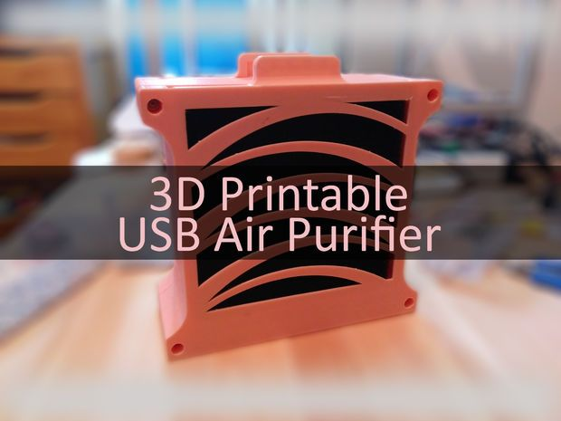 100% printable structure that allows to easily change filters!
