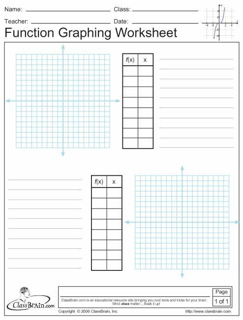 Graphing worksheet pdf