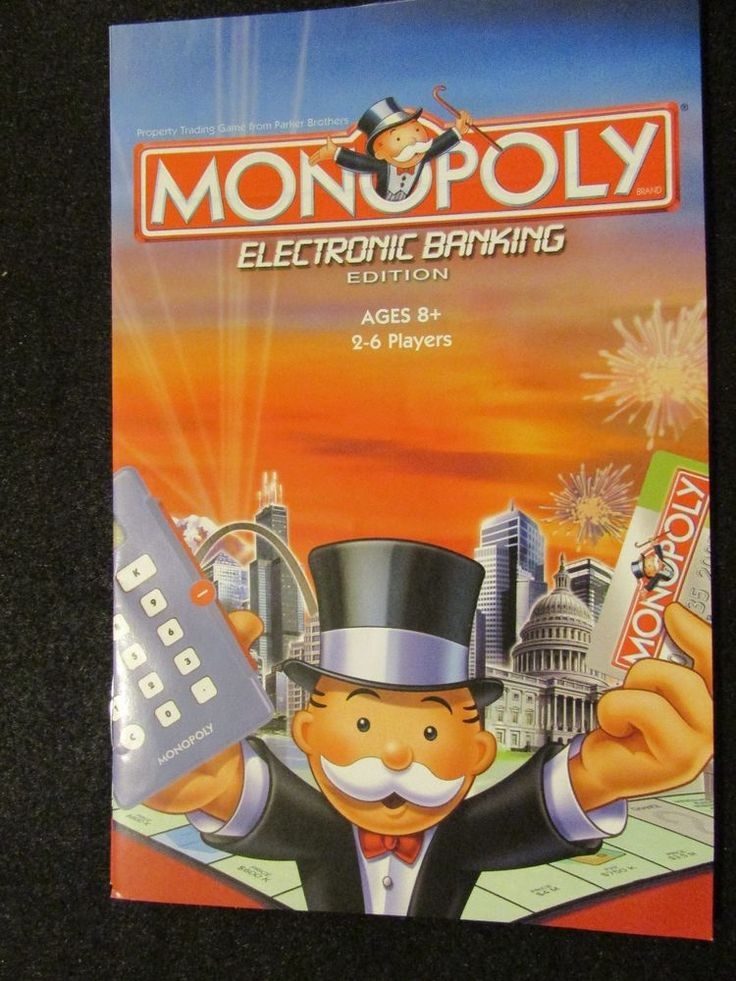 2007 Monopoly Electronic Banking Edition Rules & Directions ~ Original  #ParkerBrothers