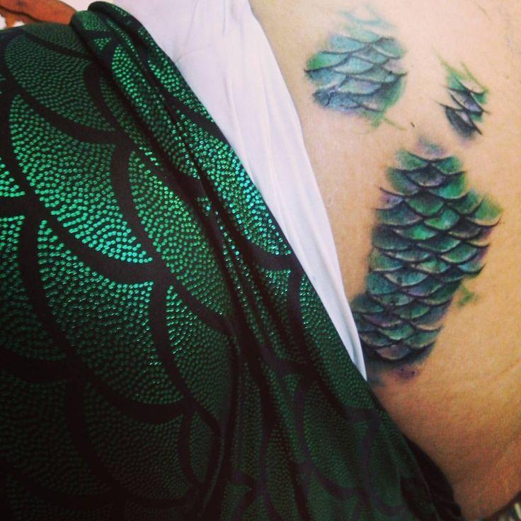 Imma mermaid <3 #mermaid #scales #tattoo #mermaidtattoo #leggings…