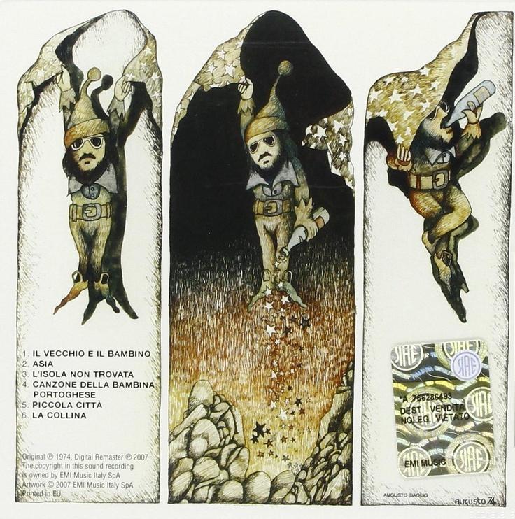 Augusto Daolio 1974 Nomadi SQ Quadraphonic (I Nomadi) - I Nomadi interpretano Guccini [Columbia 3C066-17990Q] #backcover #fantasy #Prog-Rock