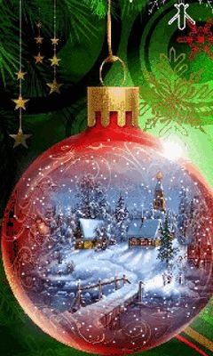 Download Animated 240x400 «Christmas» Cell Phone Wallpaper. Category: Holidays