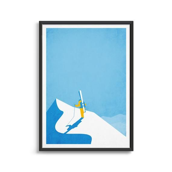 Vintage Ski Poster Ski Art Personalised Gift Ideas For Etsy Vintage Ski Posters Ski Art Ski Posters