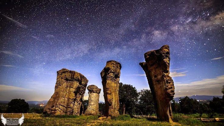 Provincia de Chaiyaphum otros 800 en Tailandia ha sido apodado, el círculo de Stonehenge. Thailand