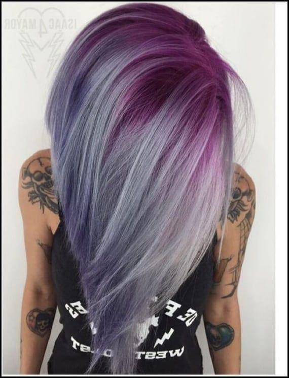 10 Hübsche Pastell Haar Farbe Ideen Mit Blond, Silber, Lila Und Rosa ...  #langhaarfrisuren2018 #frisuren #trendfrisuren #neuefrisuren #schnitte  #frauen # ...