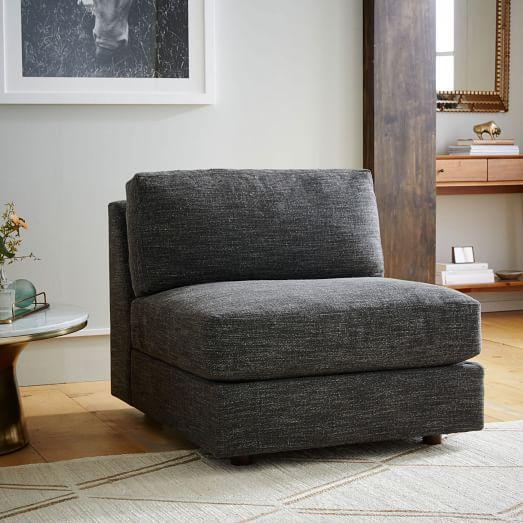 Urban Armless Chair- Heathered Tweed | west elm