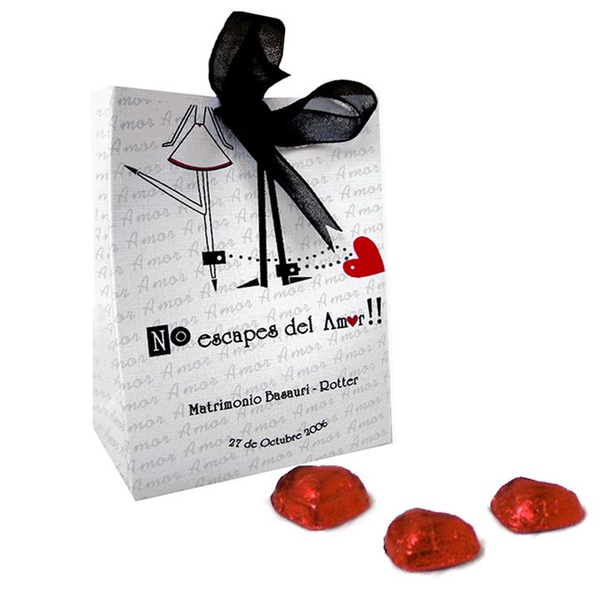Bolso cinta novios encadenados matrimonio