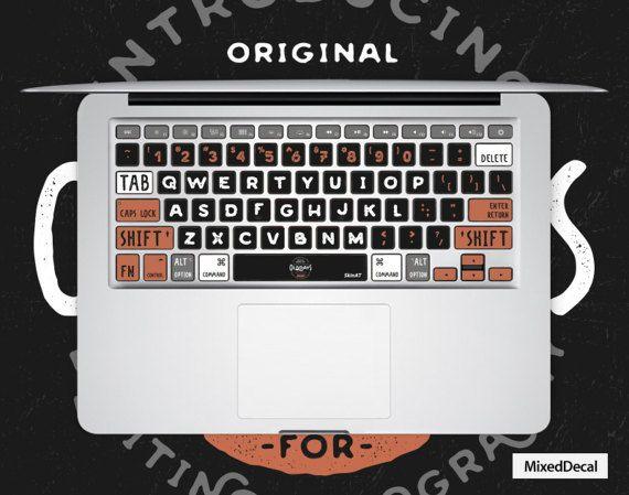 MacBook keyboard Sticker \ Mac keyboard Decal #geekery #computer #accessories @EtsyMktgTool http://etsy.me/2hZqmEO
