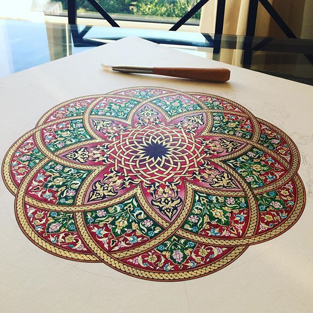 #tezhip#tazhib#art#artwork#arts_help #artoftheday #painting#drawing #picture #rumi #gold #islamicart#turkishart#gelenekselsanatlar #son#dokunuşlar#