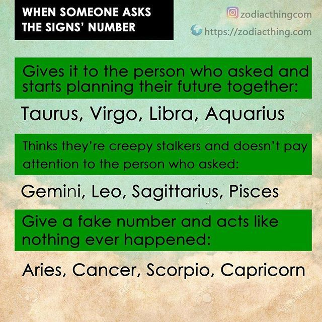 Ok I'm an Aries and I would definitely give my number!  (don't tell my cousin I said that!)