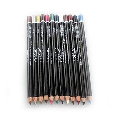professionale 24 ore durevole impermeabile matita eyeliner liquido colorato 12 pz del 2136338 2016 a €5.87