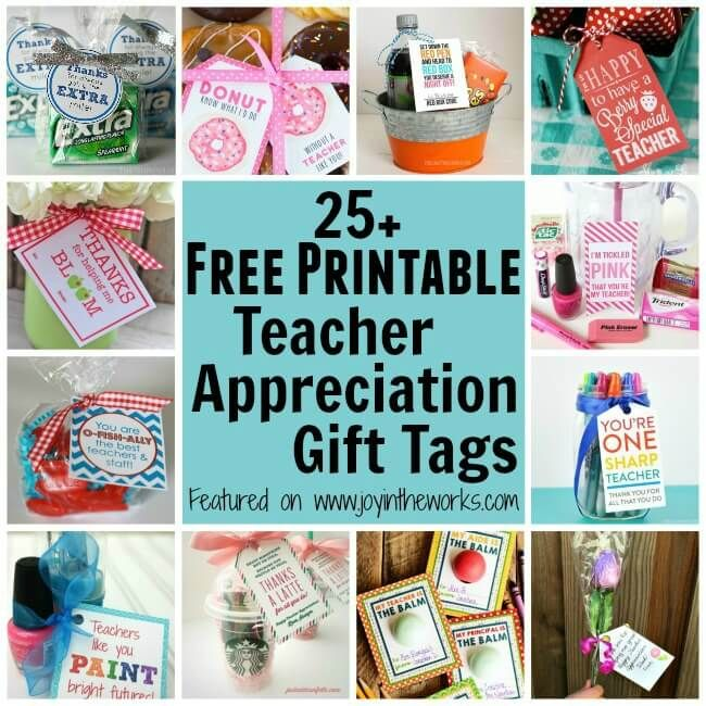 photo about Free Printable Teacher Appreciation Gift Tags known as 25+ Totally free Printable Instructor Appreciation Present Tags Household