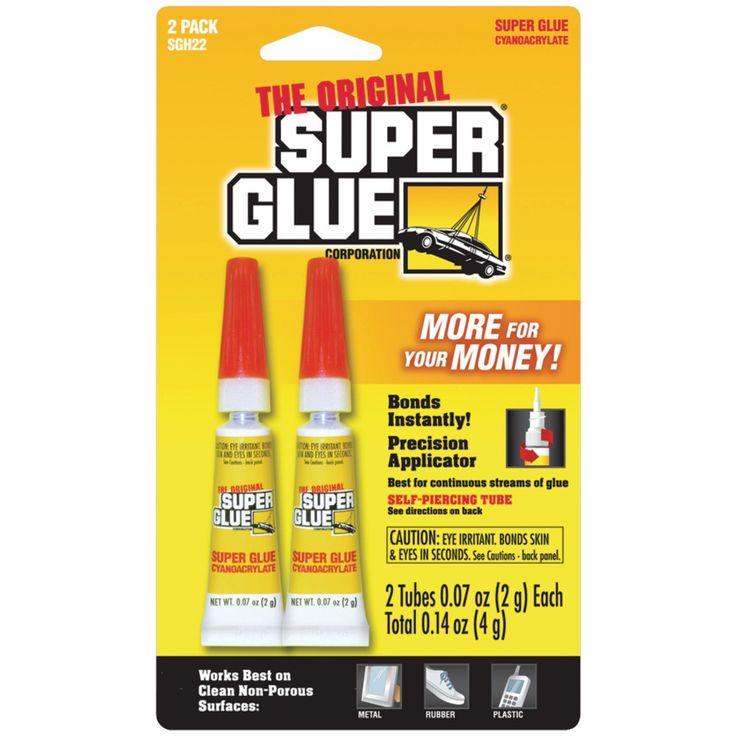 SUPER GLUE SGH22-12 Super Glue Tubes (Double Pack)