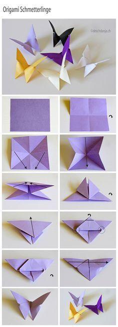 Bricoler des papillons de papier! Faites-en des décorations! - Bricolages - Des bricolages géniaux à réaliser avec vos enfants - Trucs et Bricolages - Fallait y penser !