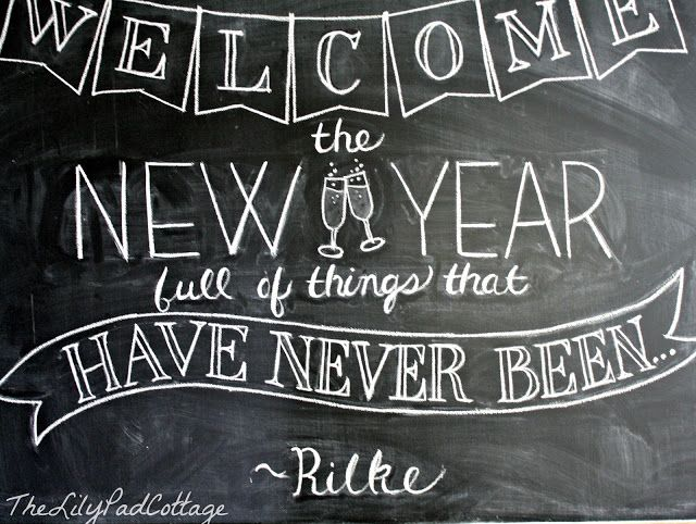 New Years Chalkboard