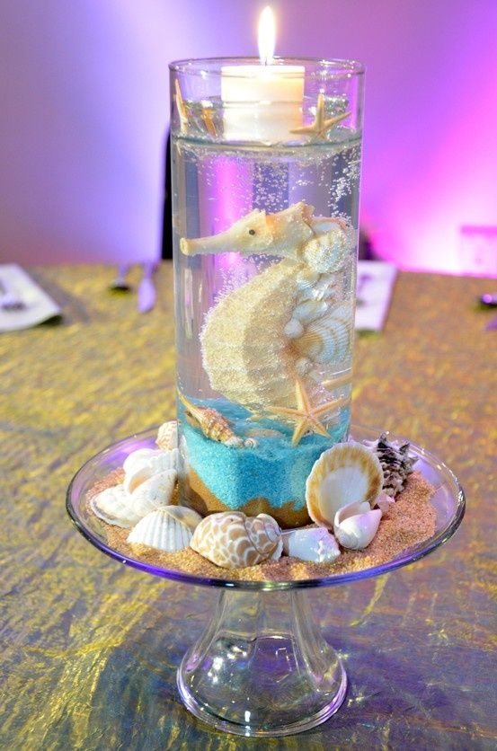 Under the Sea inspired Candle Centerpiece