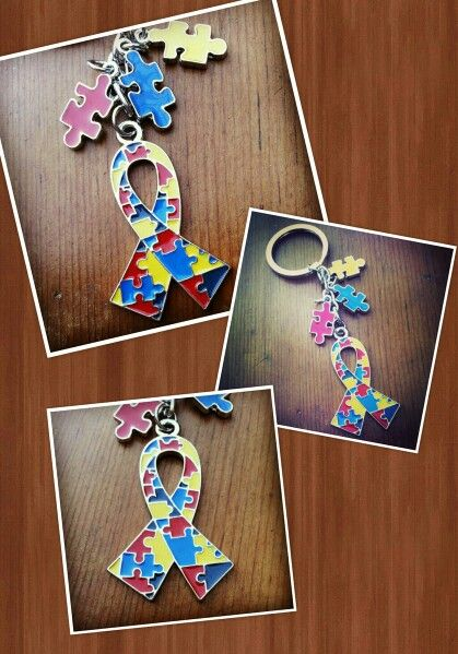 Autism Awareness keychain. Available at http://signatureteamgifts.com