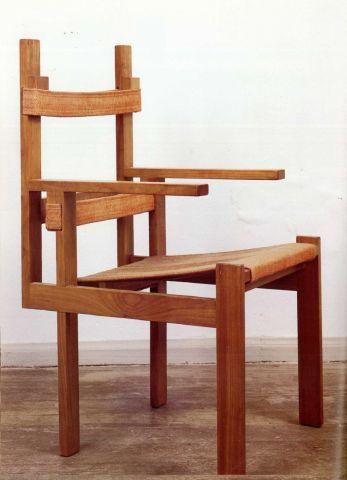 Bauhaus. Elska Slatted Chair, Marcel Breuer 1924 Design