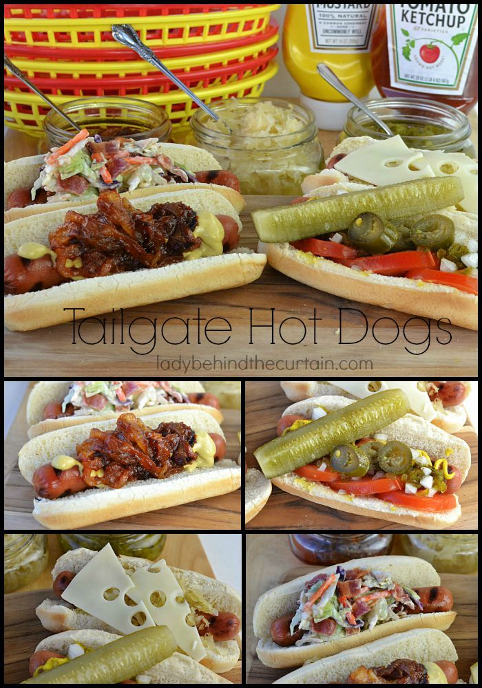 Tailgate Hot Dogs   Four different kinds of hot dogs great for game day or a tailgating party.