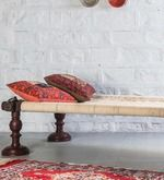 Buy Tasarika Chaarpai Bench in Passion Mahogany Finish by Mudramark  Online: Shop from wide range of Benches Online in India at best prices. ✔Free Shipping✔Easy EMI✔Easy Returns