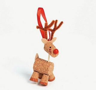 Mini enfeites de natal feitos com sucata - Pra Gente Miúda: Crafts Ideas, Wine Corks, Christmas Crafts, Reindeer Christmas, Christmas Ornament Crafts, Christmas Ornaments Crafts, Corks Reindeer, Reindeer Ornaments, Crafts Kits