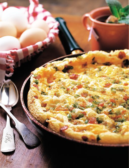 Frittata with Ham & Green Peppers | Egg yolks, Eggs and ...