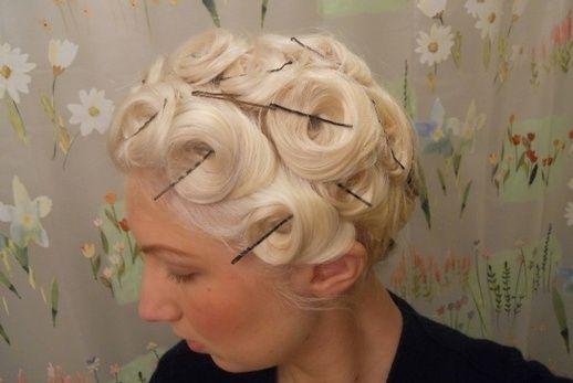 Best Medium Hairstyle pin curls short hair5 | Best Medium Hairstyle