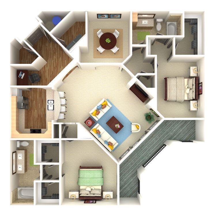 25 best 3d floor plan 3d site plan renderings and 3d for 3d floor plan rendering