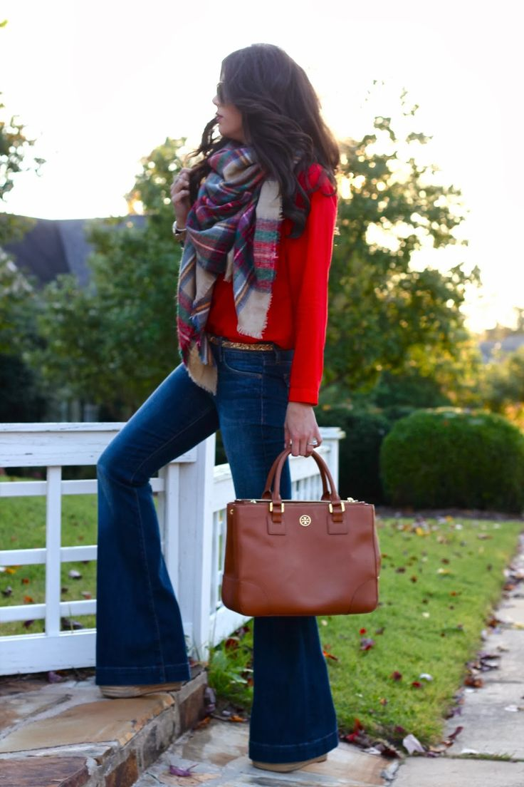 red + scarf