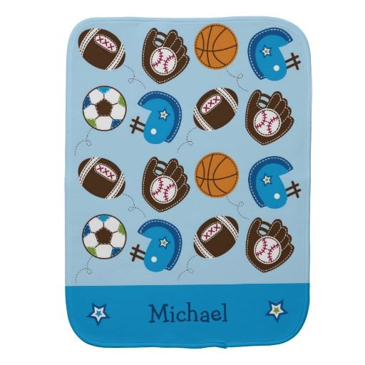55 best sports theme baby showerbirthday party images on sports burp cloth negle Gallery