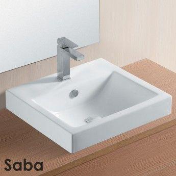 SABA 50x44.5cm White Ceramic basin