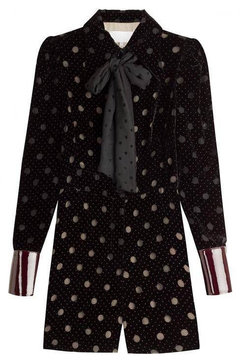 Jumpsuit aus Samt mit Polka Dots von Maison Margiela, aktuell im Sale für ca. 1151 Euro
