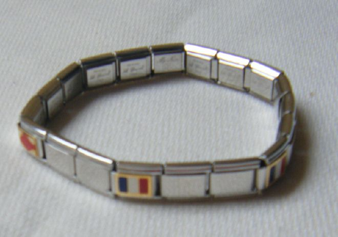 bracciale in acciaio, made in italy