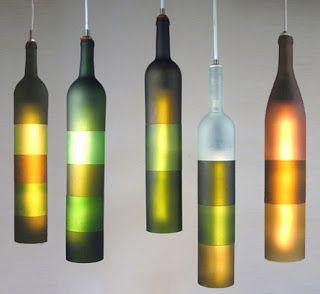 Skapa av vinflaskor