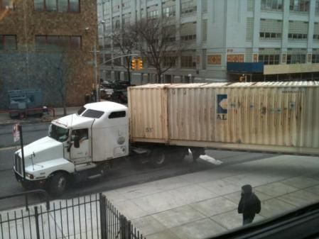 Truck delivering Timothy Leary's Archive to the NYPL