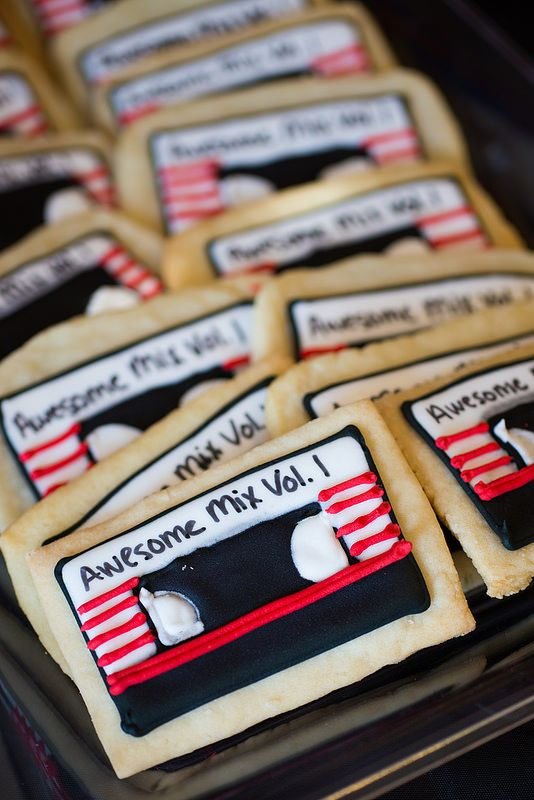 Awesome Mix Vol. 1 Mix Tape Cookies from Guardians of the Galaxy