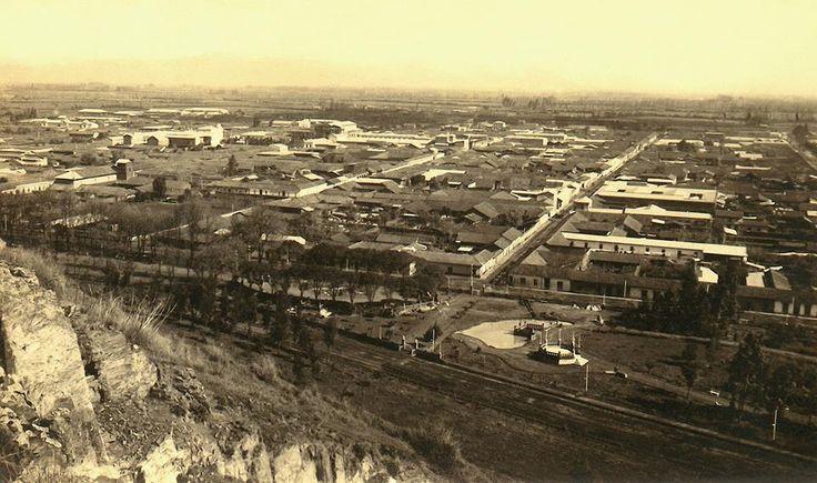 Curicó desde el cerro Condell. Ca. 1920