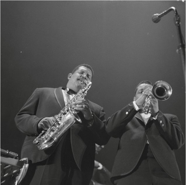 """Cannonball Adderley & Nat Adderley - Cannonball is one of the great alto sax players, known for his time with Miles Davis, a soulful style, and the crossover hit """"Mercy, Mercy, Mercy.""""  His younger brother enjoyed a long career as cornetist."""