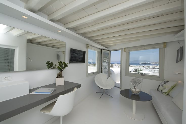 Surround yourself with style and impressive views in our Executive Suite Sea View #Semeli #SemeliHotel #Mykonos #Suite