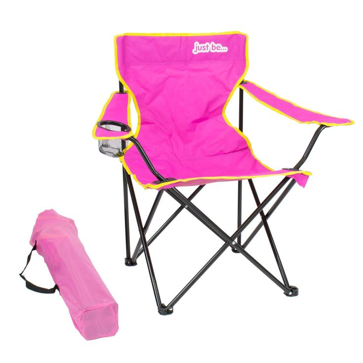 Delightful Pink Fold Up Chair #7 - Folding Camping Chair Festival Garden Foldable Fold Up Seat Deck Fishing
